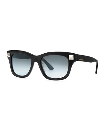 Rockstud-Temple Sunglasses, Black