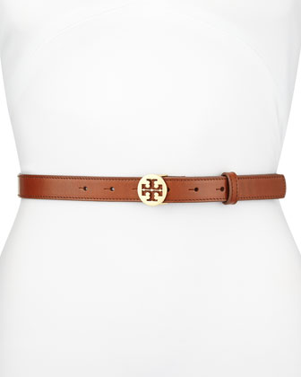 Classic Tory Logo Belt, Papaya