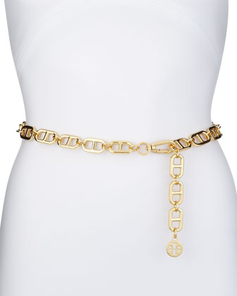 Golden Omega Link Interlocking Chain Belt