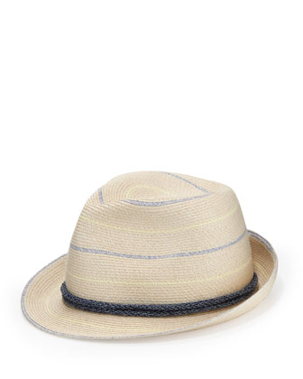 Max Striped Fedora, Ivory