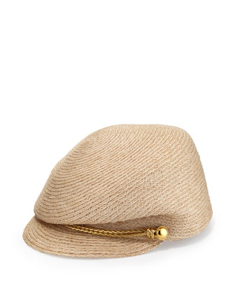 Gary Straw Cap, Natural/Gold