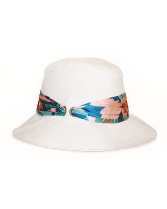 Jordana Canvas Hat, Ivory