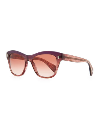 Sofee Polarized Sunglasses, Faded Fig