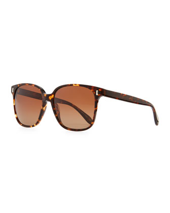 Marmont Polarized Plastic Sunglasses, Brown Tortoise