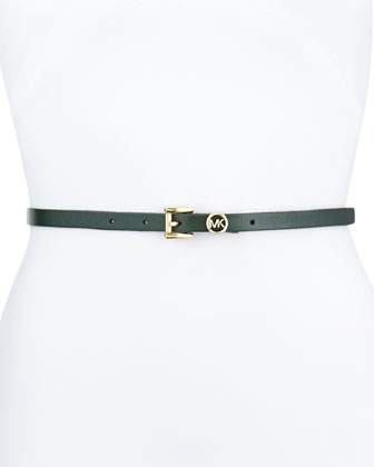 13mm Leather Logo Belt