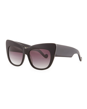 Alice Goes to Cannes Solid Sunglasses, Black