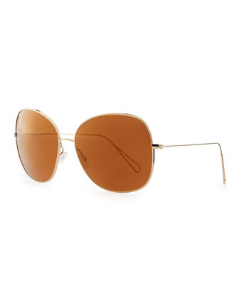 Isabel Marant par Oliver Peoples Daria 62 Oversized Sunglasses, Light ...