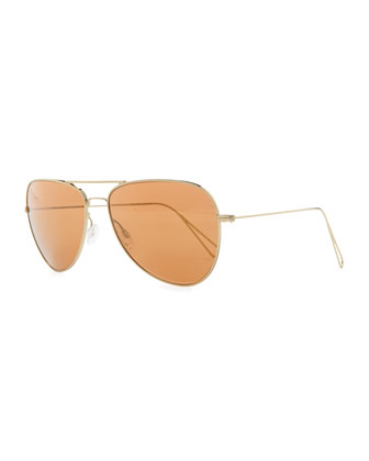 Isabel Marant par Oliver Peoples Matt 60 Aviator Sunglasses, Light ...