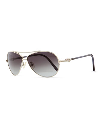 Buckle Aviator Sunglasses