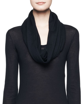 Topa Silk-Cashmere Top and Pilar Cashmere-Silk Circle Scarf