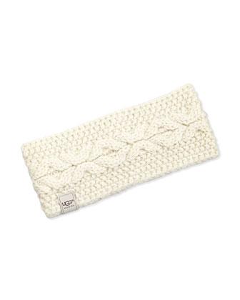 Nyla Metallic Cable-Knit Headband