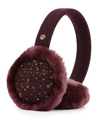 Lyra Sequined Headphone Earmuffs, Port