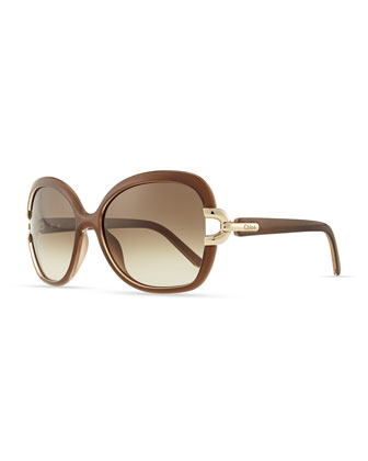 Brunelle Square Sunglasses, Turtledove
