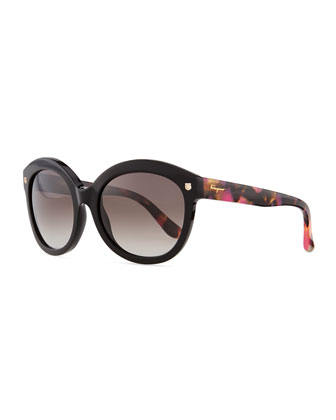 Mini-Gancini Temple Sunglasses, Black/Multi