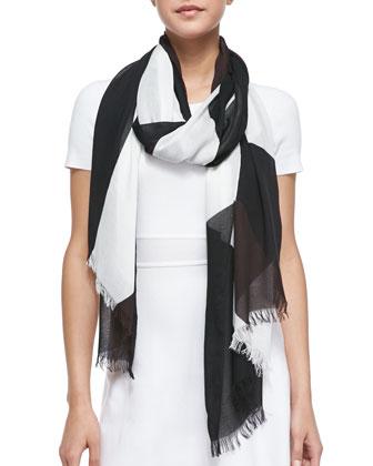 rio swirl-pattern scarf, multi
