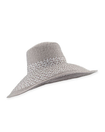 Swinger Wide-Brim Hat, Silver