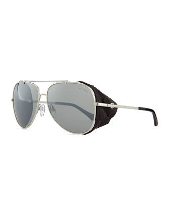 Metal Aviator Sunglasses, Silvertone