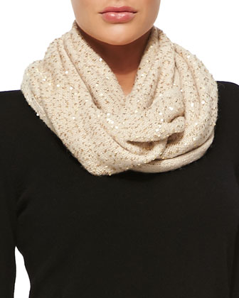 allover sequin infinity scarf