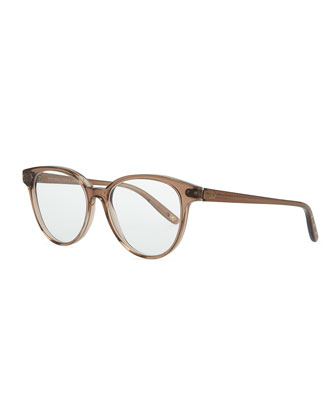Rounded Acetate Fashion Glasses, Brown