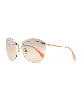 Phantos Sunglasses, Pink/Gray