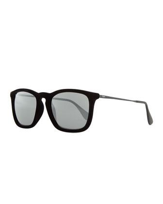 Erika Velvet Edition Sunglasses, Black