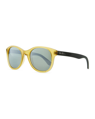Round Acetate Sunglasses, Yellow/Blue