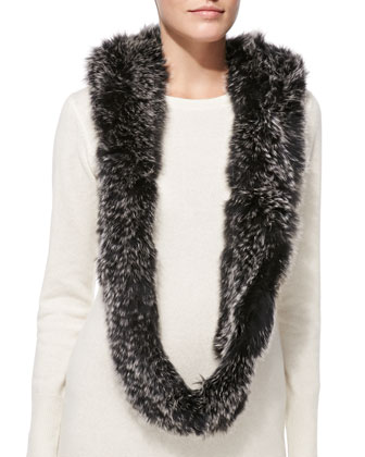 Fox Fur Hooded Infinity Scarf
