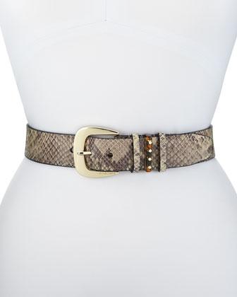 40mm Python-Print Belt