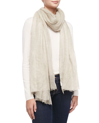 Metallic Cashmere Scarf, Rose