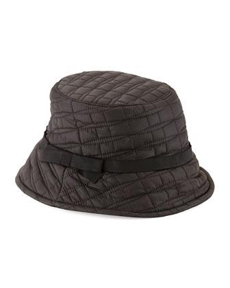 logo bucket hat, black