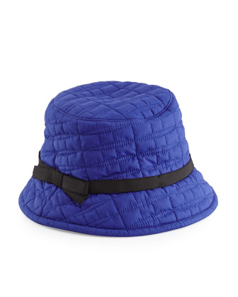 logo quilted bucket hat