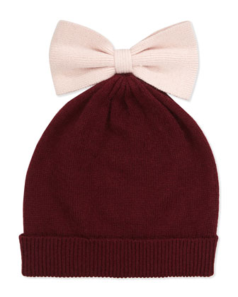 Colorblock Bow Beanie