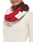 colorblock knit infinity scarf