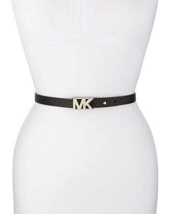 Textured Logo Belt