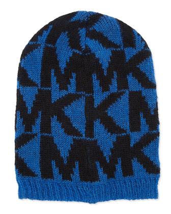 Oversize Logo Knit Hat