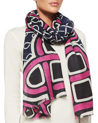 Kenley Love Knot Scarf, Pink