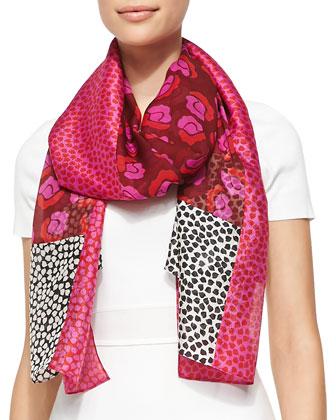 Boomerang Ballet Rose Scarf, Pink/Multi
