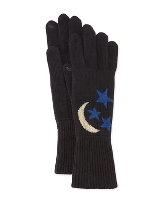 Moon & Stars Knit Smart Gloves