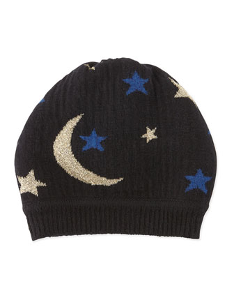 Moon & Stars Knit Hat