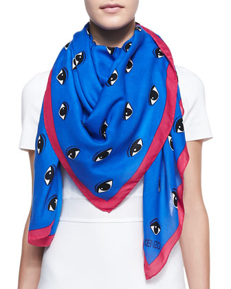 New Eye Printed Scarf