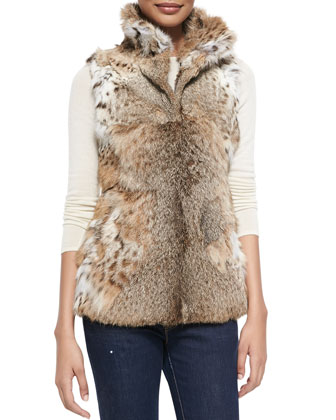 Long Lynx Vest, Natural