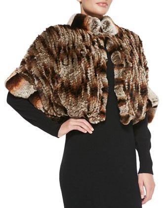 Knitted Rabbit Fur Bolero