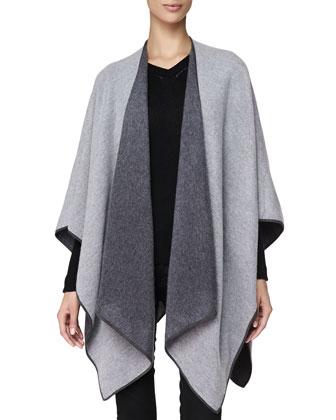 Cashmere Long Wrap, Pale Gray