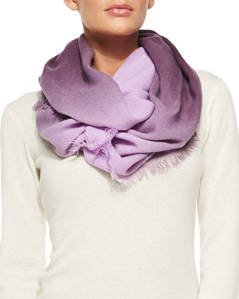 Wild Frontier Ombre Infinity Scarf, Monarch
