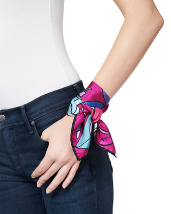 Heels-Print Small Square Scarf, Rogue