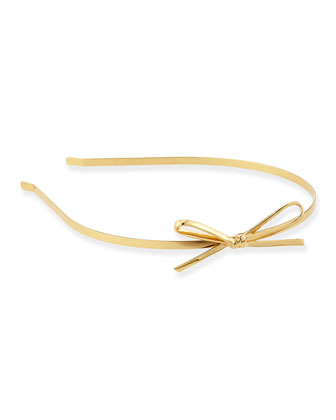 skinny mini metal headband, gold