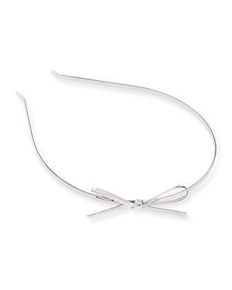 skinny metal bow headband