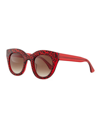 Deeply Sunglasses, Red/Black