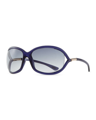 Jennifer Oversized Sunglasses, Blue