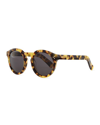 Leonard II Round Sunglasses, Tortoise
